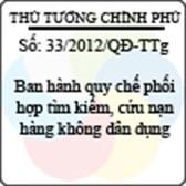 Quyết định số 33/2012/QĐ-TTg