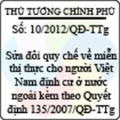 Quyết định 10/2012/QĐ-TTg