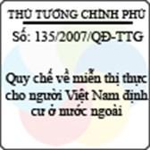 Quyết định số 135/2007/QĐ-TTG