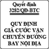Quyết định 3282/QĐ-BTC