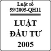 Luật đầu tư số 59/2005-QH11