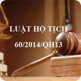 Luật hộ tịch số 60/2014/QH13