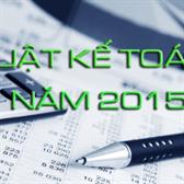 Luật kế toán số 88/2015/QH13
