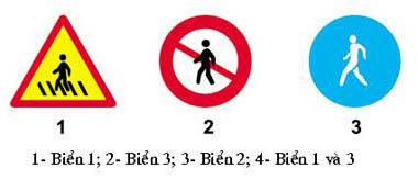 Biển báo nhường đường cho người đi bộ