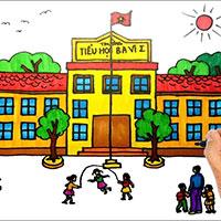 Vẽ tranh Ngôi trường mơ ước của em
