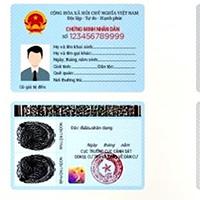 Mẫu thẻ Căn cước công dân gắn chip