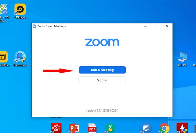 Sử dụng zoom us
