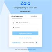 Zalo Web (chat.zalo.me) - Đăng nhập Zalo online