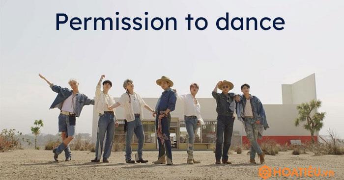 Lời bài hát Permission to dance - BTS