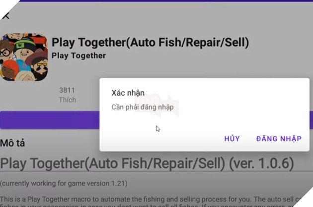 Auto câu cá Play Together trên điện thoại