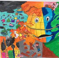 Vẽ tranh bảo vệ môi trường đơn giản và đẹp nhất